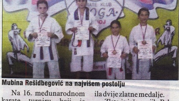 Mubina Rešidbegović sport web